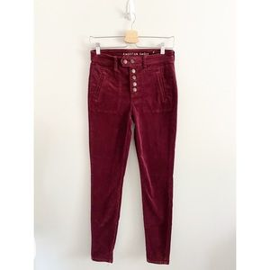 American Eagle Hi-Rise Jegging Corduroy Pant Jeans